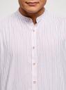 Рубашка хлопковая с коротким рукавом oodji #SECTION_NAME# (белый), 3L400002M/48202N/1245S - вид 4