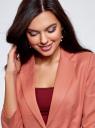 Жакет льняной с широким ремнем oodji #SECTION_NAME# (розовый), 21202076-2/45503/3300N - вид 4