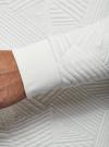 Свитшот из фактурной ткани с геометрическим узором oodji #SECTION_NAME# (белый), 5L113105M/47395N/1200N - вид 5