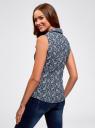 Рубашка базовая без рукавов oodji #SECTION_NAME# (синий), 14905001B/45510/7910E - вид 3