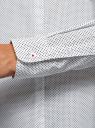 Рубашка хлопковая с нагрудным карманом  oodji #SECTION_NAME# (белый), 13K03013-1/36217/1029D - вид 5