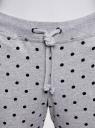 Брюки трикотажные на завязках oodji #SECTION_NAME# (серый), 16701042-1/46919/2329D - вид 4