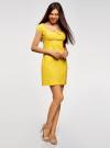 Платье хлопковое со сборками на груди oodji #SECTION_NAME# (желтый), 11902047-2B/14885/5100N - вид 6