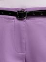 Брюки-чиносы с ремнем oodji #SECTION_NAME# (фиолетовый), 11706190-5B/32887/8000N - вид 5