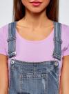 Комбинезон джинсовый с модными потертостями oodji #SECTION_NAME# (синий), 13109056/42559/7900W - вид 4
