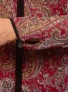 Блузка из струящейся ткани с контрастной отделкой oodji #SECTION_NAME# (красный), 11411059-2/38375/4912E - вид 5