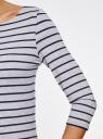 Платье трикотажное базовое oodji #SECTION_NAME# (серый), 14001071-2B/46148/2379S - вид 5