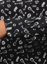 Блузка базовая из вискозы oodji #SECTION_NAME# (черный), 11411136B/26346/2912O - вид 5