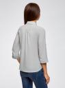 Блузка из струящейся ткани с нагрудными карманами oodji #SECTION_NAME# (серый), 11403225-6B/48853/2300N - вид 3