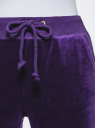 Брюки спортивные на завязках oodji для женщины (фиолетовый), 16701052B/47883/7501N
