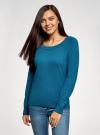 Джемпер базовый с круглым вырезом oodji для женщины (синий), 63812571-1B/46192/756DM - вид 2