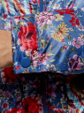 Куртка стеганая с принтом oodji #SECTION_NAME# (синий), 10203050-1M/42257/7545F - вид 5