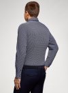 Рубашка приталенная из хлопка oodji #SECTION_NAME# (синий), 3L110360M/48958N/7975G - вид 3
