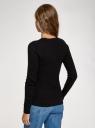 Джемпер фактурной вязки в мелкую косичку oodji для женщины (черный), 73812624-2B/49296/2900N