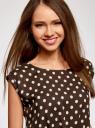Платье принтованное из вискозы oodji #SECTION_NAME# (коричневый), 11910073-2/45470/3912D - вид 4
