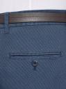 Брюки с защипами и ремнем oodji для мужчины (синий), 2L150203M/48639N/7975O