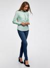 Рубашка приталенная с нагрудными карманами oodji #SECTION_NAME# (зеленый), 11403222-3/42468/6500N - вид 6