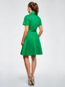 Платье-рубашка с поясом oodji для женщины (зеленый), 21900311/42358/6D00N