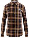 Рубашка принтованная хлопковая oodji #SECTION_NAME# (синий), 11406019/43593/7957C