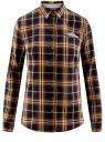 Рубашка принтованная хлопковая oodji для женщины (синий), 11406019/43593/7957C