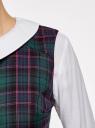 Платье из плотной ткани с воротником oodji для женщины (зеленый), 11910080/37836/6E47C