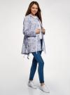 Куртка удлиненная на кулиске oodji для женщины (синий), 11D03006/24058/7012F - вид 6