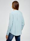 Блузка вискозная А-образного силуэта oodji #SECTION_NAME# (синий), 21411113B/26346/7001N - вид 3