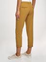 Брюки-чиносы хлопковые oodji для женщины (желтый), 11706193B/42841/5701N