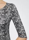Платье трикотажное облегающее oodji #SECTION_NAME# (серый), 14001121-3B/16300/1029L - вид 5