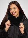 Куртка с воротником из искусственного меха oodji #SECTION_NAME# (черный), 10210002-1/46266/2901N - вид 4