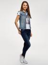 Жилет джинсовый с декоративными карманами oodji #SECTION_NAME# (синий), 12409023/45369/7000W - вид 6