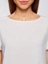 Блузка вискозная свободного силуэта oodji для женщины (белый), 21411119-1/26346/1200N