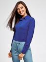Блузка прямого силуэта с нагрудным карманом oodji #SECTION_NAME# (синий), 11411134B/46123/7501N - вид 2