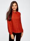 Блузка из струящейся ткани oodji #SECTION_NAME# (красный), 11400368-3/32823/4501N - вид 2