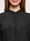 Блузка базовая из шифона oodji #SECTION_NAME# (черный), 11403225B/45227/2900N - вид 4