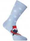 Комплект из трех пар хлопковых носков oodji для женщины (разноцветный), 57102902-4T3/10231/12