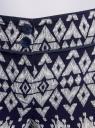Брюки легкие принтованные oodji для женщины (синий), 11700090-3/14897/7912E