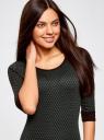 Платье жаккардовое с геометрическим узором oodji #SECTION_NAME# (зеленый), 14001064-6/35468/2962J - вид 4
