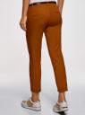Брюки-чиносы с ремнем oodji для женщины (коричневый), 11706193B/42841/3100N
