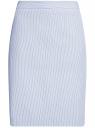 Юбка базовая прямая oodji для женщины (синий), 21611105-4B/31270/1279S