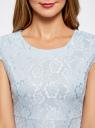 Платье трикотажное кружевное oodji #SECTION_NAME# (синий), 14001154/42644/7000L - вид 4