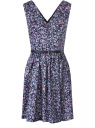 Платье принтованное с ремнем oodji для женщины (разноцветный), 11913021/19766/2941F