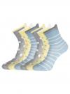 Комплект хлопковых носков (6 пар) oodji для женщины (разноцветный), 57102802-3T6/47613/24 - вид 2