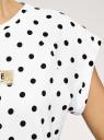 Футболка из хлопка с рукавом реглан oodji для женщины (белый), 14707001-98/46154/1029P