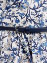Сарафан принтованный с контрастным ремнем oodji для женщины (белый), 11902101-6/14912/1075F