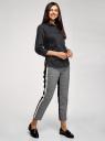 Рубашка с нагрудным карманом и рукавом 3/4 oodji для женщины (черный), 13K01005B/42083/2900N