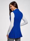 Жилет удлиненный приталенный oodji для женщины (синий), 12300099-9/18600/7501N - вид 3