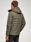 Куртка утепленная с капюшоном oodji #SECTION_NAME# (зеленый), 1B112036M/49421N/6600N - вид 3