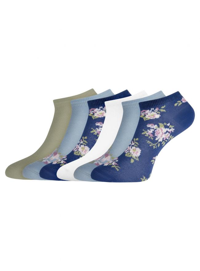 Комплект укороченных носков (6 пар) oodji для женщины (разноцветный), 57102433T6/47469/45
