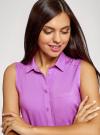 Топ вискозный с нагрудным карманом oodji для женщины (красный), 11411108B/26346/4C00N - вид 4